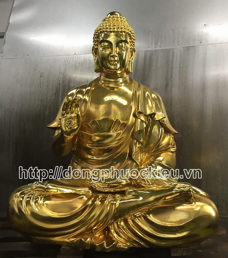 Đúc tượng đồng Bất Động Như Lai dát vàng -hinh 2