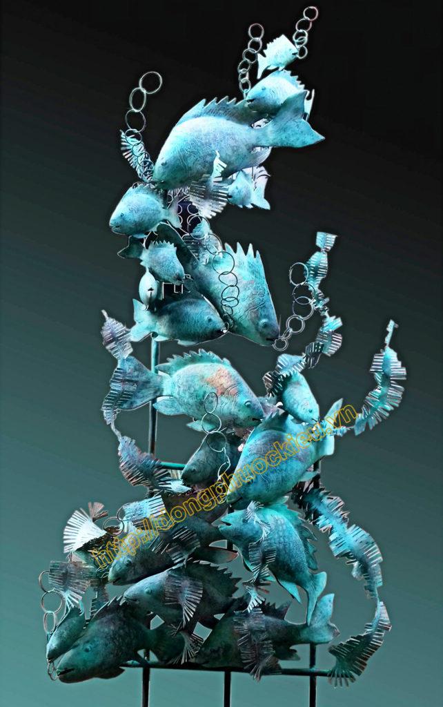 Đúc đồng trang trí với mẫu cá đồng xinh động đẹp mắt - hinh 2
